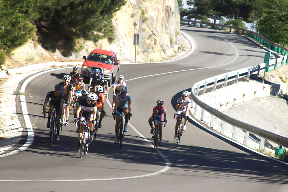 Love cycling marbella in group